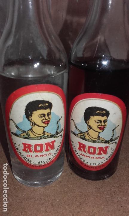 Coleccionismo de vinos y licores: LOTE DE 2 BOTELLITA BOTELLA RON JAMAICA - SELGA TORRAS MANRESA - SIN ABRIR - Foto 2 - 65074587
