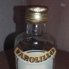 Coleccionismo de vinos y licores: BOTELLITA BOTELLA FAROLILLO GINEBRA EXTRA - SELGA TORRAS MANRESA. Lote 65077855