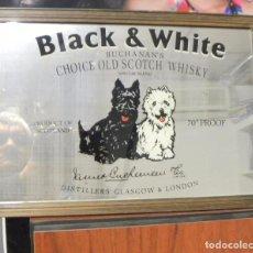 Coleccionismo de vinos y licores: CUADRO ESPEJO DE WHISKY BLACK&WHITE. Lote 64584127