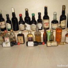 Coleccionismo de vinos y licores: BOTELLINES MINIATURA. Lote 69958785