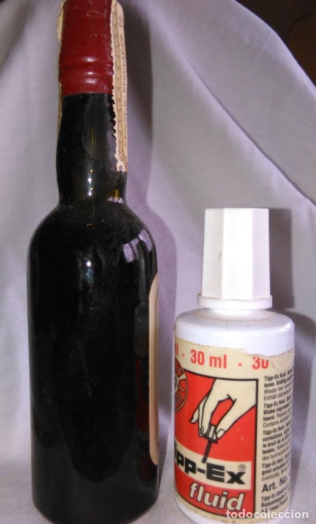 Coleccionismo de vinos y licores: Botellín de Pedro Ximénez Superior,Bodegas E.D. Atané,Jerez,175.Botella antigua en miniatura.A1225. - Foto 3 - 73591199
