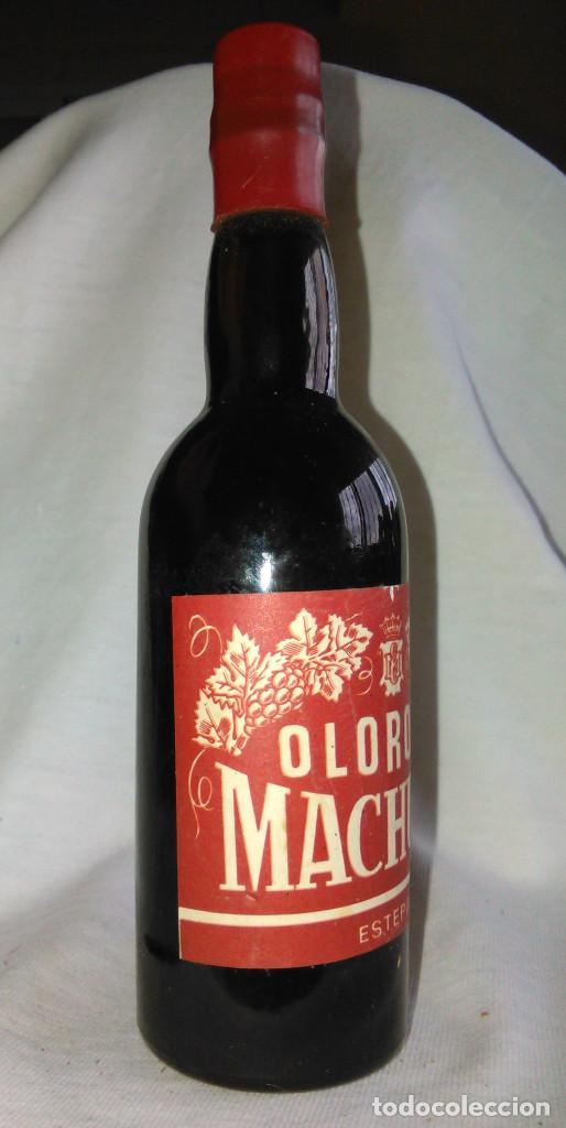 Coleccionismo de vinos y licores: Botellín de vino oloroso Machuca de Estepa. EMB 2494. Botella antigua en miniatura. A1425. - Foto 2 - 75132091