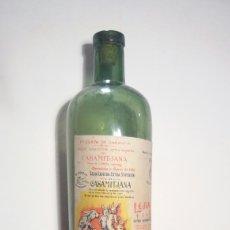 Coleccionismo de vinos y licores: BOTELLA DE LEJIA EL CONEJO UN LITRO LA ESTRELLA CASAMITJANA MENSA CRISTAL. Lote 75142913