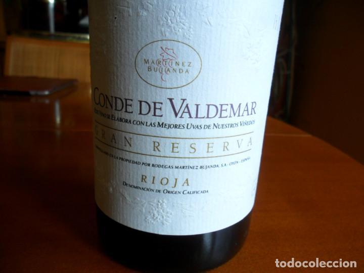 Coleccionismo de vinos y licores: BOTELLA DE VINO RIOJA CONDE DE VALDEMAR GRAN RESERVA COSECHA DE 1982 - MARTINEZ BUJANDA - Foto 4 - 78513333