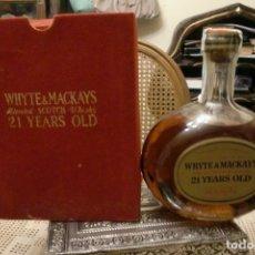 Coleccionismo de vinos y licores: WHISKY WHITE MACKAYS 21 YEARS. Lote 79074537