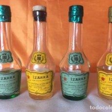 Coleccionismo de vinos y licores: 4 BOTELLITAS DE LICOR IZARRA SELLO 50 CENTIMOS. Lote 80268841