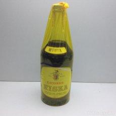 Coleccionismo de vinos y licores: RARA BOTELLA LICORES RISKA MENTA PRECINTO 4 PTAS ANDUJAR JAEN. Lote 80734346