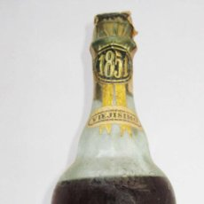 Coleccionismo de vinos y licores: UNICA! BOTELLA ANTIGUA BRANDY VIEJISIMO RESERVA ESPECIAL 1851 PALMA MALLORCA SUAU JUAN MORA. Lote 81217832