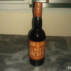 Coleccionismo de vinos y licores: ANTIGUA BOTELLA MINIATURA DE OLOROSO MACHUCA ESTEPA SIN ABRIR . Lote 81702428