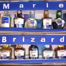 Coleccionismo de vinos y licores: PACK DE 10 BOTELLINES DE LICOR MARIE BRIZARD. CAJA DE COLECCIÓN. BOTELLÍN, BOTELLITA, ESTUCHE.A2802.. Lote 83704352