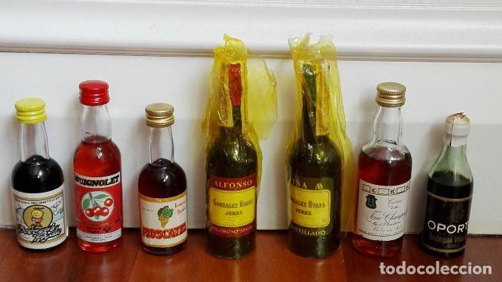 7 BOTELLINES DE LICOR (Coleccionismo - Botellas y Bebidas - Vinos, Licores y Aguardientes)