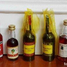 Coleccionismo de vinos y licores: 7 BOTELLINES DE LICOR. Lote 83717184