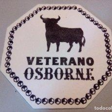 Coleccionismo de vinos y licores: POSAVASOS VETERANO OSBORNE. Lote 84424028