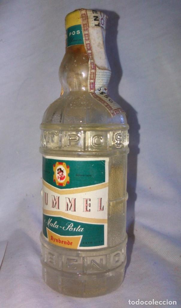 Coleccionismo de vinos y licores: Botellín de Rummel. Mala Posta, Rynbende. Fabricado em Portugal. Botella en miniatura. A3115. - Foto 3 - 84473800