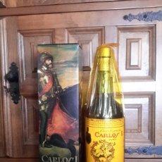 Coleccionismo de vinos y licores - Botella de brandy especial Carlos I - 84597358