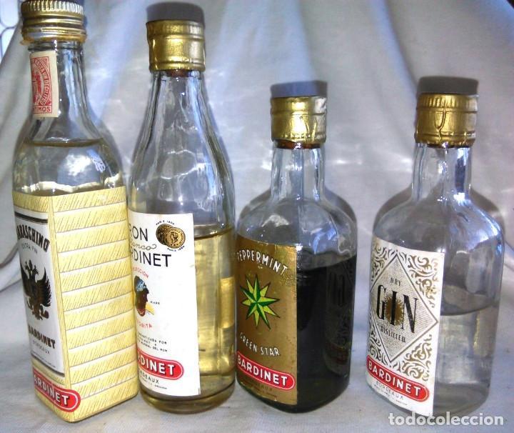 Coleccionismo de vinos y licores: Pack de 15 botellines Destilerías Bardinet Bordeaux. Lote botellin, botellita, botellitas. A3800. - Foto 7 - 85106156