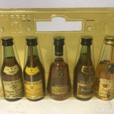 Coleccionismo de vinos y licores: LOTE BOTELLAS PEQUEÑAS BOTELLITAS LICORES TORRES (NUEVO A ESTRENAR). Lote 86357720