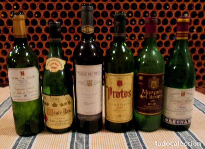 Lote 6 Botellas Vino Vacias