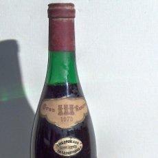 Coleccionismo de vinos y licores: BOTELLA VINO, GRAN SANGRE DE TORO,TORRES, GRAN RESERVA 1970 PRECINTO EN PERFECTAS CONDICIONES. Lote 86909676