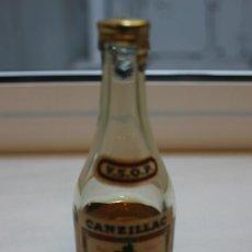 Coleccionismo de vinos y licores: BOTELLIN DE BRANDY PURO FRANCES NAPOLEON CANZILLAC. PRODUCTO FRANCES. 10 CMS. Lote 87634800