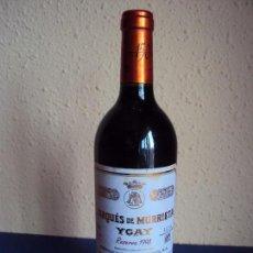 Coleccionismo de vinos y licores: (LI-170568)BOTELLA DE VINO - MARQUES DE MURRIETA YGAY RESERVA 1998 - 150 ANIVERSARIO .. Lote 87707336