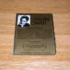 Coleccionismo de vinos y licores: ETIQUETA DE CAMPARI CON GERALDINE CHAPLIN 1981.. Lote 90068548