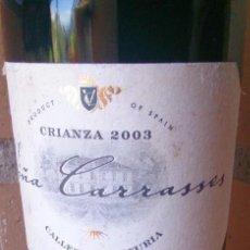 Coleccionismo de vinos y licores: BOTELLA CRIANZA 2003 VIÑA CARRASSES. Lote 91818590