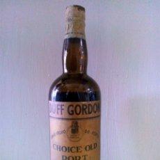 Coleccionismo de vinos y licores: ANTIGUA BOTELLA DE OPORTO.CHOICE OLD PORT DUFF GORDON.BOTELLA DE 750 ML VINHO VELHO DO PORTO.. Lote 92038820