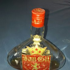Coleccionismo de vinos y licores: ANTIGUA BOTELLA SAN GIL GRANDE FINE ARMAGNAC FRANCE 1909 21CM. Lote 93867187