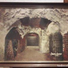 Coleccionismo de vinos y licores: BONITO CARTEL CUADRO, CAVA, JUVE Y CAMPS, 67 X 52 CM.. Lote 94655543