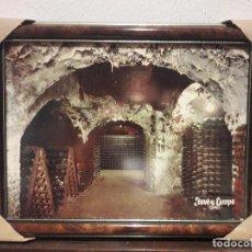 Coleccionismo de vinos y licores: BONITO CARTEL CUADRO, CAVA, JUVE Y CAMPS, 44 X 35 CM.. Lote 94656347