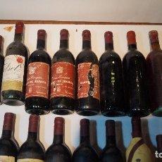 Coleccionismo de vinos y licores: LOTE DE 18 VINOS TINTO DE LOS AÑOS 80.. Lote 95375643