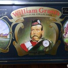 Coleccionismo de vinos y licores: CAJA METÁLICA CON SEIS BOTELLINES DE WILLIAM GRANT'S. Lote 95776143
