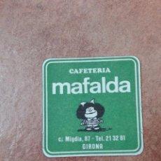 Coleccionismo de vinos y licores: POSAVASOS MAFALDA GIRONA. Lote 95860219