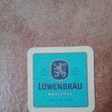 Coleccionismo de vinos y licores: POSAVASOS LOWENBRAU ORIGINAL. Lote 95861007