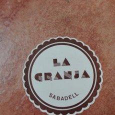Coleccionismo de vinos y licores: POSAVASOS LA GRANJA SABADELL. Lote 95861107