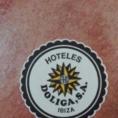 Coleccionismo de vinos y licores: POSAVASOS DOLIGA IBIZA. Lote 95861259