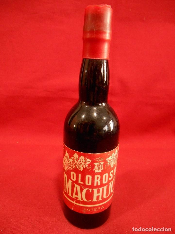 ANTIGUA MINIATURA DE BOTELLA DE VINO - OLOROSO MACHUCA - ESTEPA. (Coleccionismo - Botellas y Bebidas - Vinos, Licores y Aguardientes)