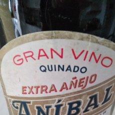 Coleccionismo de vinos y licores: BOTELLA 930 ML - VINO QUINADO ANÍBAL - AÑOS 70. Lote 97404139