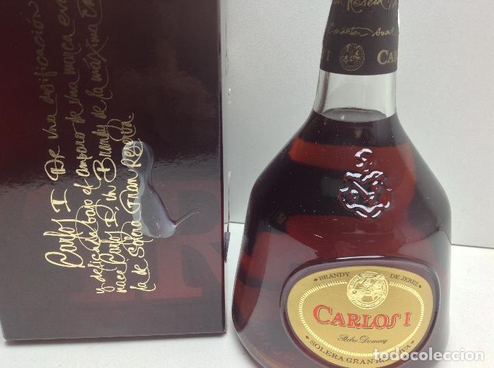 Coleccionismo de vinos y licores: BOTELLA BRANDY CARLOS I PEDRO DOMECQ - Foto 3 - 97499227