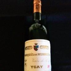 Coleccionismo de vinos y licores: BOTELLA VINO LLENA -MARQUÉS DE MURRIETA-1982- TINTO RIOJA. -- DE COLECCIÓN--. Lote 97524543