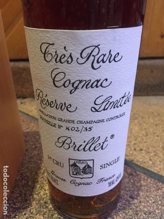 Coleccionismo de vinos y licores: Brillet Très Rare Cognac Réserve Limitée 1er Cru Single - 70cl. - Numerada K02/35 - Certificado - Foto 3 - 98107107