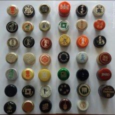 Collectionnisme de vins et liqueurs: F-127- COLECCIÓN 41 TAPONES SAKE JAPON + 2 DE WHISKY SUNTORY. WHISKEY.. Lote 99185815