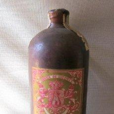 Coleccionismo de vinos y licores: BOTELLA ANTIGUA LICOR CURACAO - JUAN SENSADA , SUCESOR DE JOSE RIERA, VALENCIA. Lote 99884795
