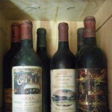 Coleccionismo de vinos y licores: LOTE DE CINCO BOTELLAS VINO DE RIOJA 1970 - 1987. Lote 100738411