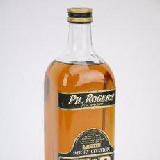 Coleccionismo de vinos y licores: BOTELLA DE WHISKY - PH. ROGERS. FIN WHISKY, 40º, 1 L - Nº 623082 - LLENA - FRANCIA, 1978 - #JSW. Lote 109775198