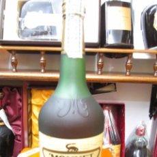 Coleccionismo de vinos y licores: ANTIGUA BOTELLA DE BRANDY COÑAC MONNET ESPECIAL EUROPA IMPUESTO GRATUITO DECADA DE LOS 70. Lote 103082103