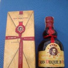 Coleccionismo de vinos y licores: BRANDY GRAN DUQUE DE ALBA SOLERA GRAN RESERVA JEREZ EN CAJA. Lote 103130747