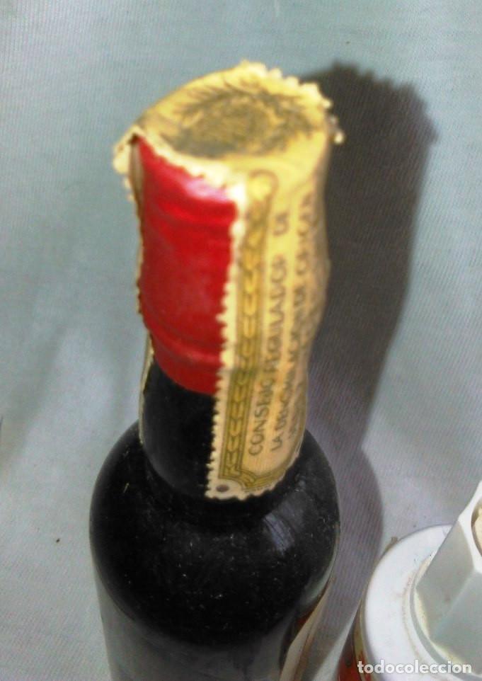 Coleccionismo de vinos y licores: Botellín de vino Pedro Ximénez Selecto. Bodegas Eduardo Delage, E.D. Atané. Jerez. Botellita. A1221. - Foto 5 - 103212887