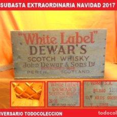Coleccionismo de vinos y licores: AJA DE WHISKY WHITE LABEL ANTIGUA EN MADERA 100% ORIGINAL IMPORTADA POR VARMA S.A.DE BILBAO. Lote 103819579
